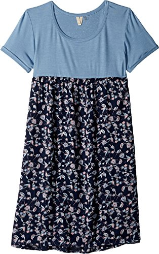 Roxy Big Girls' Branche of Lilac Dress, Dress Blues Beyond Way Small, 12/L