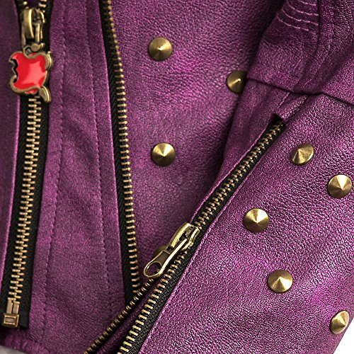 Disney Descendants 2 Faux Leather Moto Jacket for Girls Purple