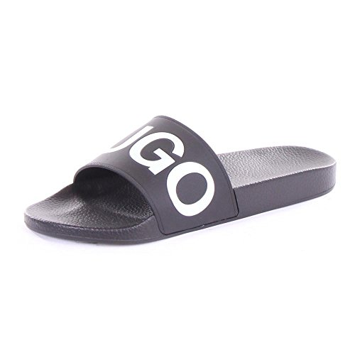 Hugo Boss Hugo Men's Time Out Slide Sandals, Black, 7 D(M) US