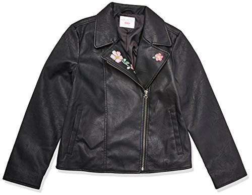 The Children's Place Big Girls' Moto Jacket, Black, M (7/8)