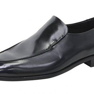 Hugo Boss Men's Dressapp_Loaf_bo Black Leather Loafers Shoes Sz: 9.5