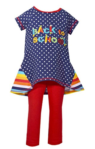 Bonnie Jean Little Girls' Holiday Dress and Legging Set, Back to School, 6