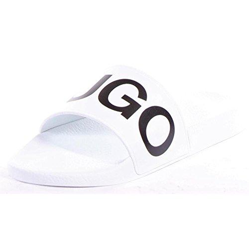 Hugo Boss Men's Timeout-RB White Slides Sandals Shoes Sz: 8