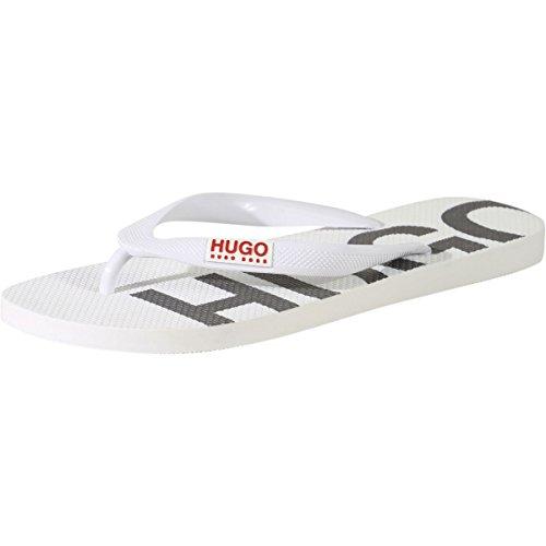 Hugo Boss Men's On Fire White Flip Flops Sandals Shoes Sz: 8/9