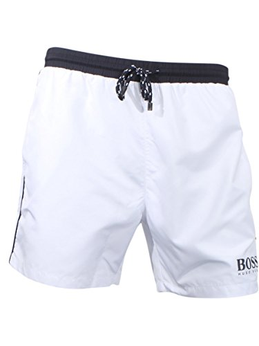 Hugo Boss BOSS Men's Starfish Swim Trunk, Open White, M