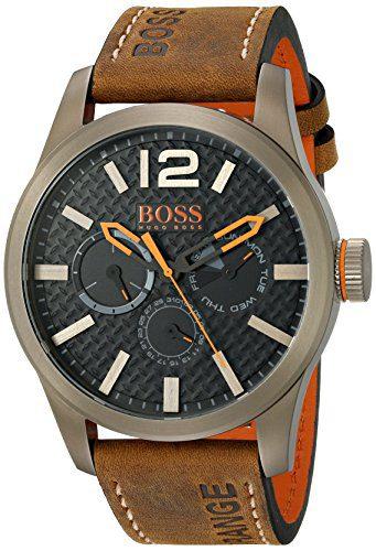 BOSS Orange Men's Paris Japanese Quartz Brown Watch with Analog Display