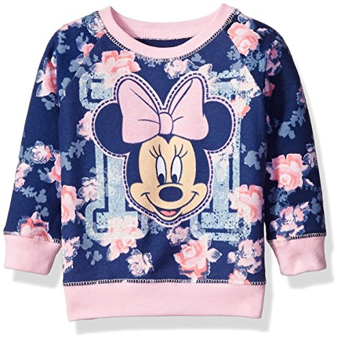 Toddler Minnie Mouse Floral All Over Print French Terry Sweatshirt