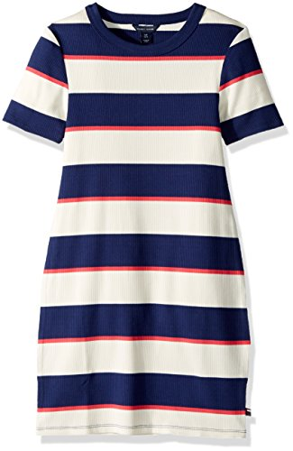 Tommy Hilfiger Big Girls' Rugby Rib Knit Dress, Flag Blue, Small