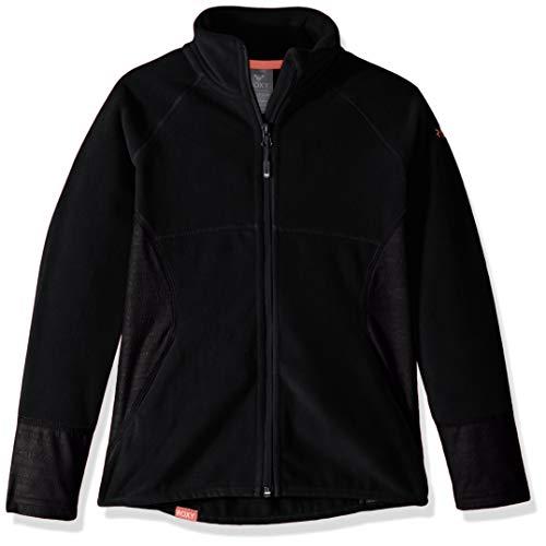 Roxy Little Girls' Harmony Zip-up Fleece Sweatshirt, True Black, 8/S