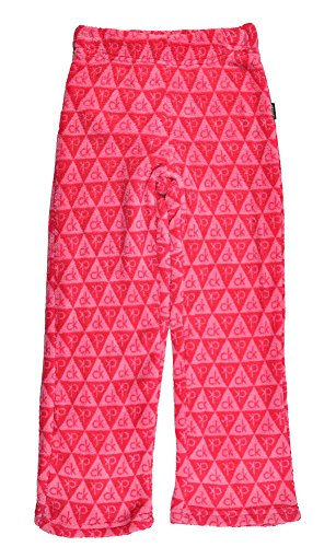 Calvin Klein Little Girls' Logo Plush Sleep Pant, Pink, 5/6