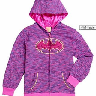 DC Comics Girls' Batgirl Costume Hoodie (3T, Hot Pink)