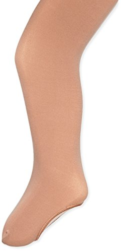 Capezio Big Girls' Ultra Soft Self Knit Waistband Tight,Suntan,  One Size (8-12)