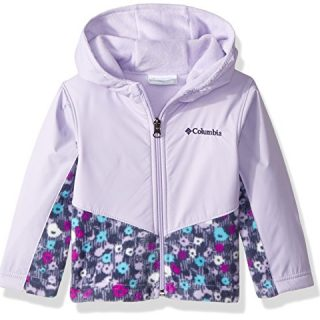 Columbia Toddler Kids Steens Mt Overlay Hoodie, Soft Violet Floral Print, 4T