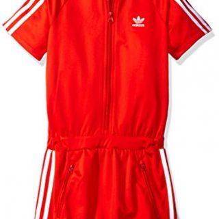 adidas Originals Dresses Big Girls' Firebird, Core Red/White, Small