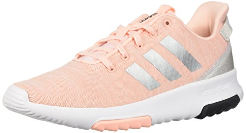 adidas Kids CF Racer TR Running Shoe, Haze Coral/Metallic Silver/White, 4.5 M US Big Kid