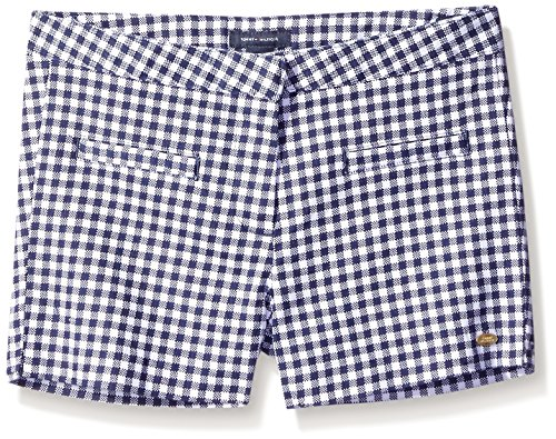 Tommy Hilfiger Big Girls' Printed Gingham Twinkle Shortie, Flag Blue, 7