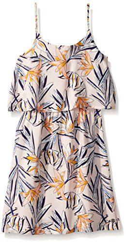 Roxy Big Girls' Coldest Winter Tank Dress, Peach Whip Lafitenia, 8/S