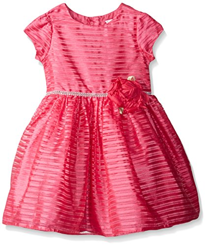 Sweet Heart Rose Little Girls' Organza Stripe Special Occasion Dress, Pink, 2