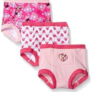 Disney Toddler Girls' Minnie Mouse 3pk Training Pant, Assorted, 3T