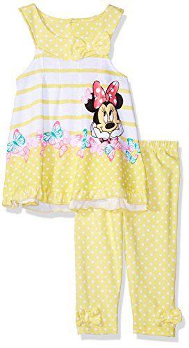 Disney Toddler Girls' Minnie 2 Piece U-Neck Legging Set