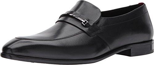 HUGO by Hugo Boss Men's Dress Appeal Leather Loafer, Black, 8.5 M US
