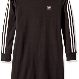 adidas Originals Big Girls' Trefoil Dress, Black/White, M