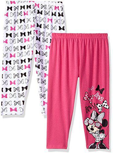 Disney Toddler Girls' Minnie 2 Pack Leggings, Light Pink, 4T