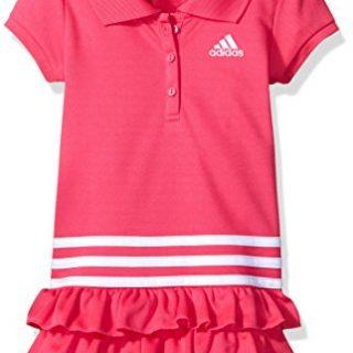 adidas Toddler Girls' Active Polo Dress, Medium Pink, 2T