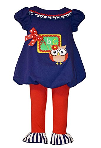 Bonnie Jean Little Girls Teacher Owl Tunic and Leggings, Sz 4