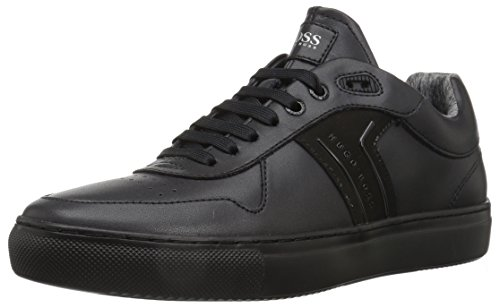 Hugo Boss BOSS Green by Men's Enlight Tenn Leather Sneaker, Black, 11 M US