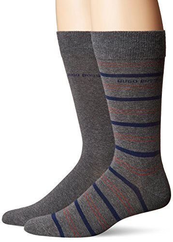 BOSS HUGO BOSS Men's 2p Rs Stripe Us Cc, Medium Gray, 7-13