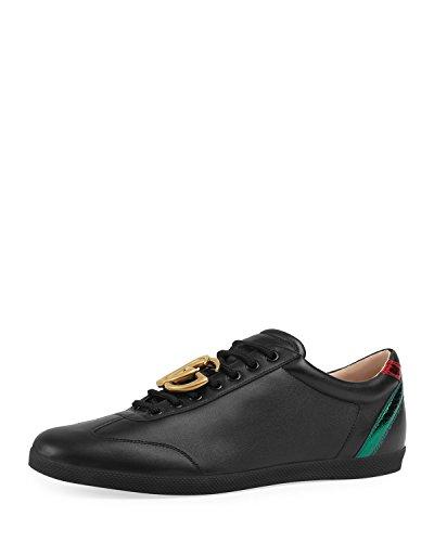 Gucci Men's Bambi GG Leather Low-Top Sneaker, Black (9 US/8.5 UK)