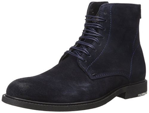 Hugo Boss BOSS Orange by Men's Cultural Roots Suede Half Fashion Boot, Dark Blue, 8 M US