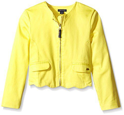 Tommy Hilfiger Big Girls' Retro Scallop Jacket, Sun Haze, 10
