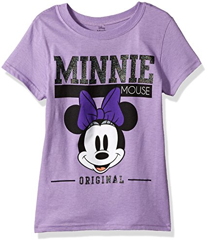 Disney Big Girls' Minnie Mouse Cap Sleeve T-Shirt, Lavender, L-12/14