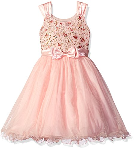 Bonnie Jean Big Girls Sleeveless Party Dress, Pink, 8