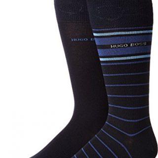 BOSS Hugo Boss Men's Stripe 2-Pack Crew Sock Blue 7 - 13