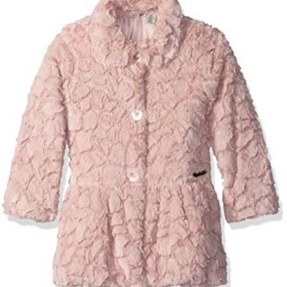 Calvin Klein Little Girls' Faux Fur Jacket, Light Pink, 6