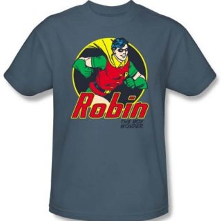 Batman And Robin Kids T-shirt - The Boy Wonder DC Comics Slate Youth, Kids Medium