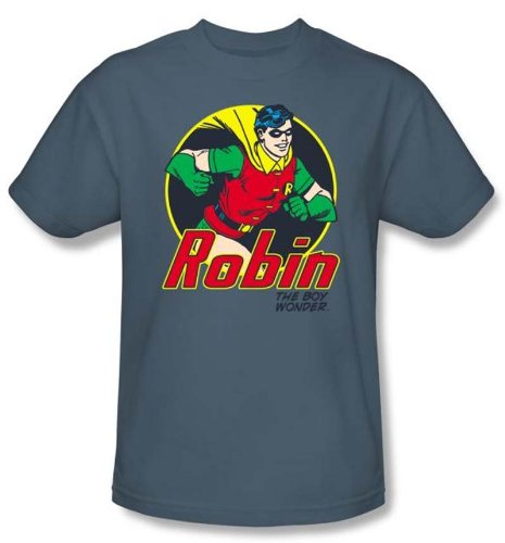 Batman And Robin Kids T-shirt - The Boy Wonder DC Comics Slate Youth, Kids Medium