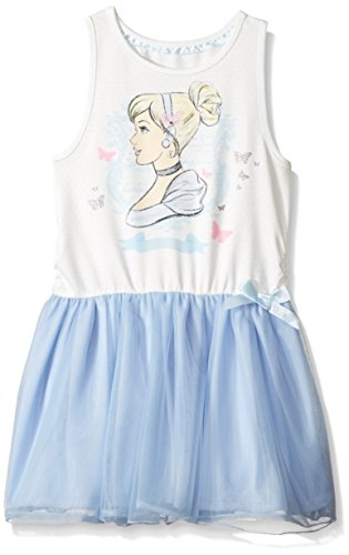 Disney Toddler Girls' Cinderella Ruffle Dress, Blue, 6X