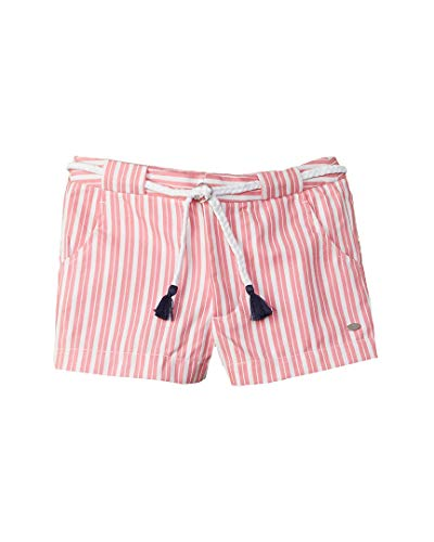 Tommy Hilfiger Girls Striped Short, 7, Pink