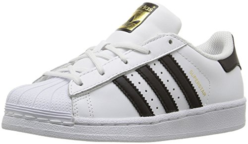 Adidas Kids' Superstar Foundation EL C Sneaker, White/Black/White, 1 M US Little Kid