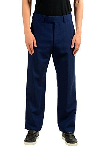 Gucci Men's Mohair Wool Blue Dress Pants US 32 IT 48