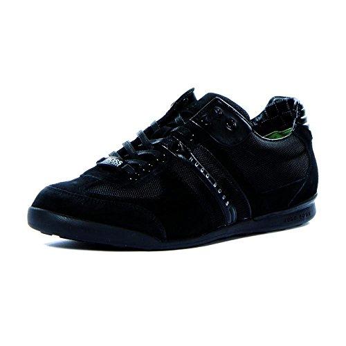 Hugo Boss BOSS Green by Men's Akeen Suede Sneaker Shoe, black, 9 US - 42 EU M US