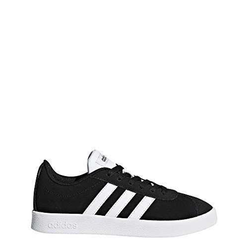 adidas Kids' VL Court 2.0, Core Black/White/Core Black, 3.5 M US Little Kid