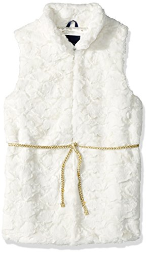 Tommy Hilfiger Big Girls' Faux Fur Vest, Whisper White, Medium