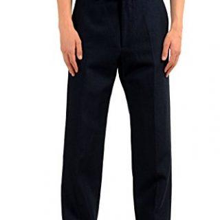Gucci Men's Linen Wool Navy Blue Dress Pants US 32 IT 48