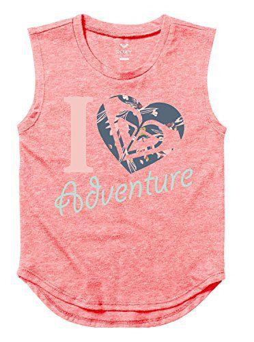 Roxy Big Girls' Heart Adventure Youth Muscle Tank, Tea Rose, 14