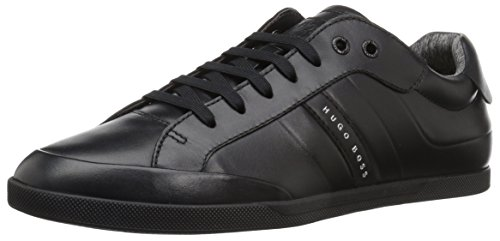 Hugo Boss BOSS Green by Men's Shuttle Tenn Leather Sneaker, Black, 9 M US